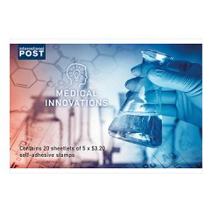 Chequebook of 20 x 5 x $3.20 Medical Innovations international stamps product photo