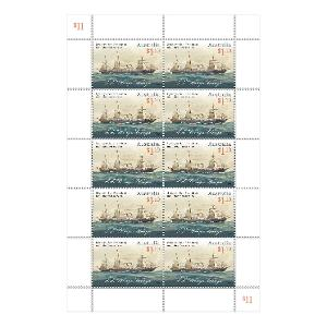 Sydney-San Francisco Mail Steamer sheetlet of 10 stamps product photo