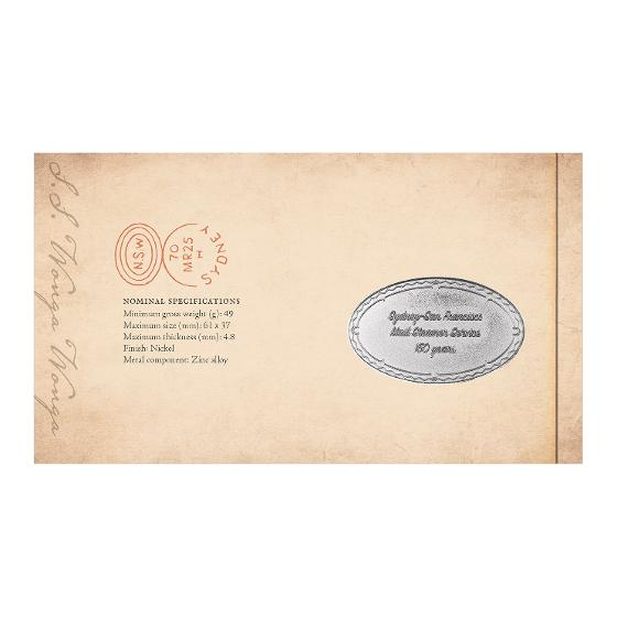 Sydney-San Francisco Mail Steamer stamp and medallion cover product photo Internal 3 DETAILS