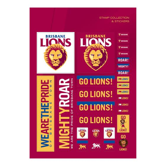 AFL 2020 Brisbane Lions stamp pack product photo Internal 3 DETAILS
