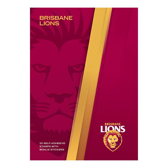 AFL 2020 Brisbane Lions stamp pack product photo Internal 4 DETAILS