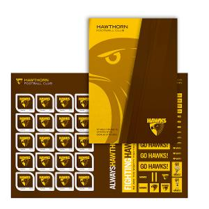 AFL 2020 Hawthorn Football Club stamp pack product photo