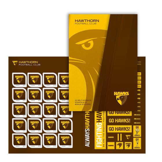 AFL 2020 Hawthorn Football Club stamp pack product photo Internal 1 DETAILS