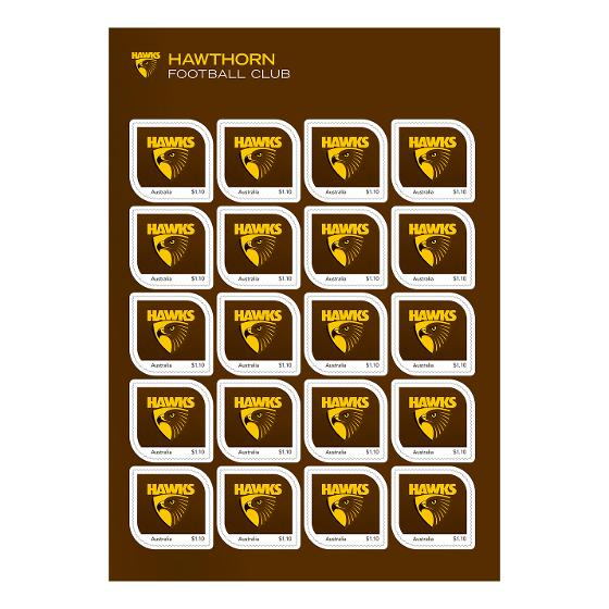 AFL 2020 Hawthorn Football Club stamp pack product photo Internal 2 DETAILS