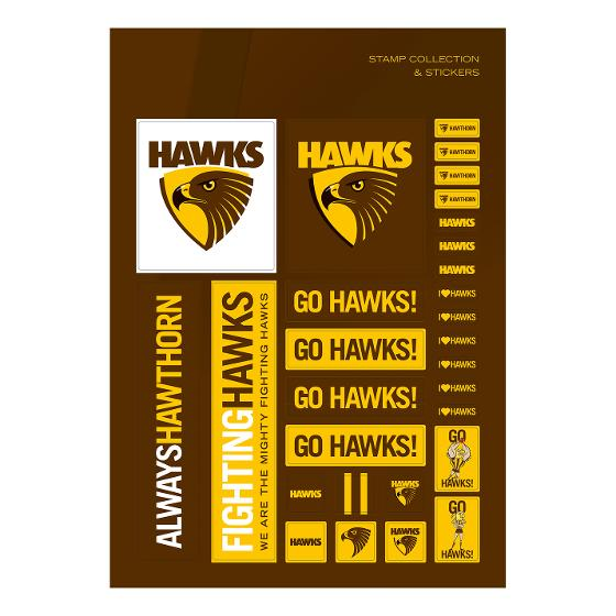 AFL 2020 Hawthorn Football Club stamp pack product photo Internal 3 DETAILS