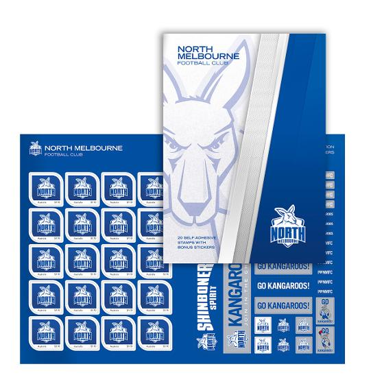 AFL 2020 North Melbourne Football Club stamp pack product photo Internal 1 DETAILS