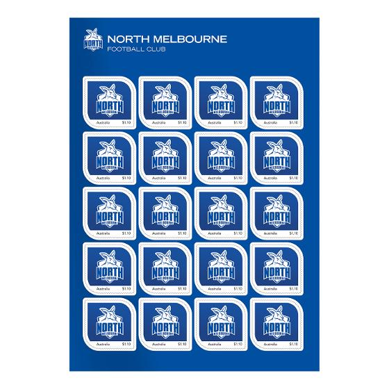 AFL 2020 North Melbourne Football Club stamp pack product photo Internal 2 DETAILS