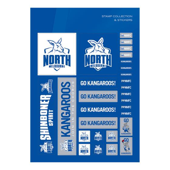 AFL 2020 North Melbourne Football Club stamp pack product photo Internal 3 DETAILS