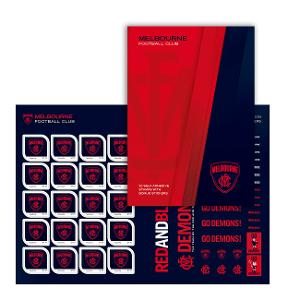 AFL 2020 Melbourne Football Club stamp pack product photo