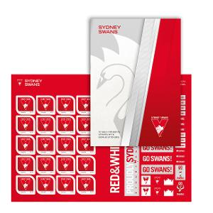 AFL 2020 Sydney Swans stamp pack product photo