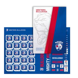 AFL 2020 Western Bulldogs stamp pack product photo