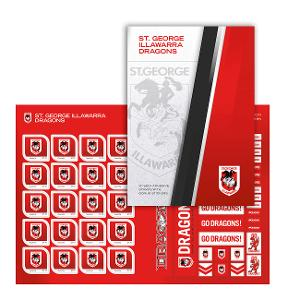 NRL 2020 St. George Illawarra Dragons stamp pack product photo