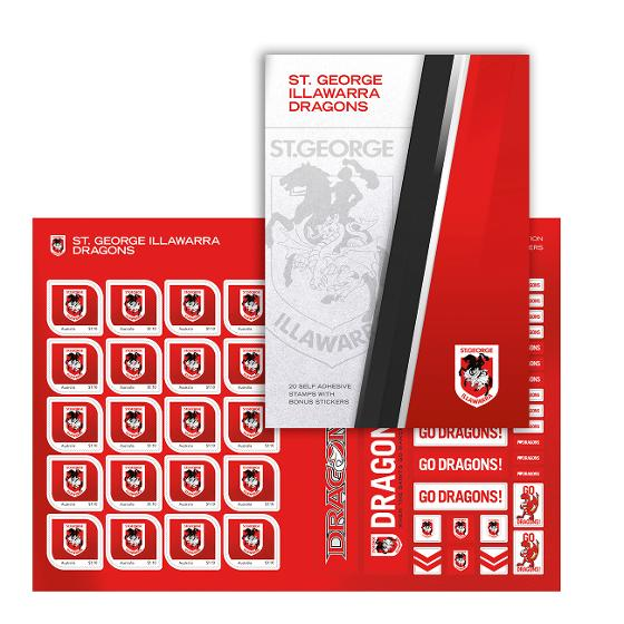 NRL 2020 St. George Illawarra Dragons stamp pack product photo Internal 1 DETAILS