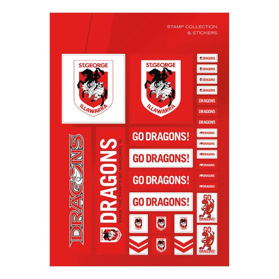 NRL 2020 St. George Illawarra Dragons stamp pack product photo Internal 3 DETAILS