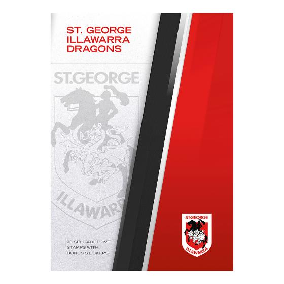 NRL 2020 St. George Illawarra Dragons stamp pack product photo Internal 4 DETAILS