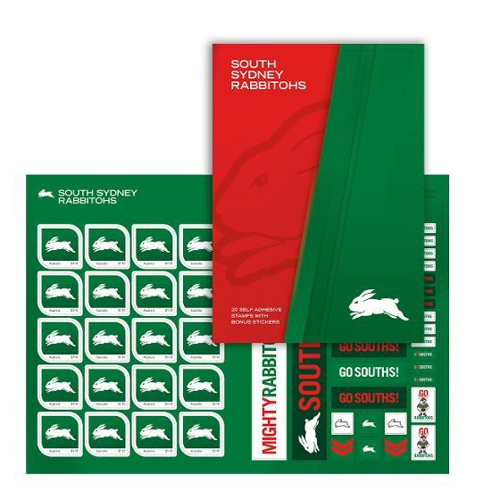 NRL 2020 South Sydney Rabbitohs stamp pack product photo Internal 1 DETAILS