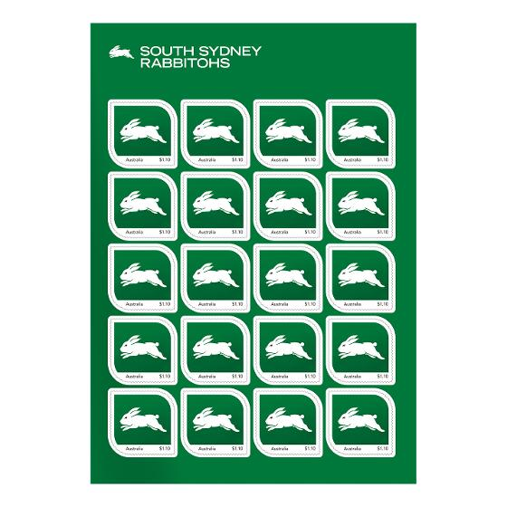 NRL 2020 South Sydney Rabbitohs stamp pack product photo Internal 2 DETAILS