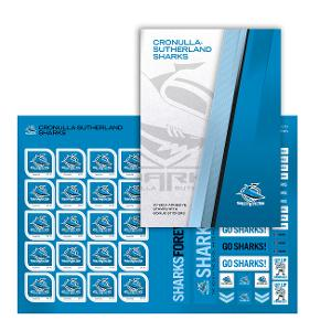 NRL 2020 Cronulla-Sutherland Sharks stamp pack product photo