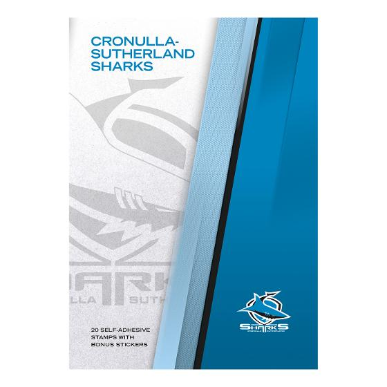 NRL 2020 Cronulla-Sutherland Sharks stamp pack product photo Internal 4 DETAILS