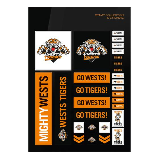 NRL 2020 West Tigers stamp pack product photo Internal 3 DETAILS