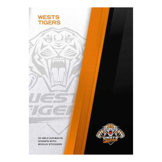 NRL 2020 West Tigers stamp pack product photo Internal 4 DETAILS