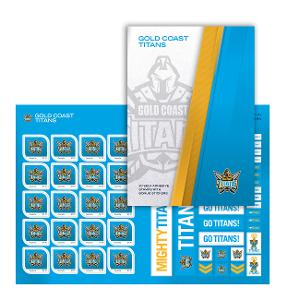 NRL 2020 Gold Coast Titans stamp pack product photo