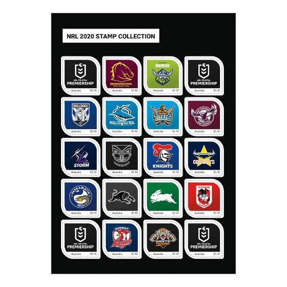 NRL 2020 stamp collection product photo Internal 2 DETAILS