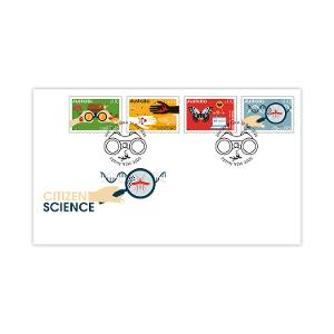 First day Citizen Science gummed stamps cover product photo