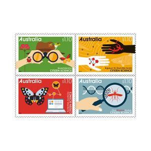Set of Citizen Science gummed stamps product photo