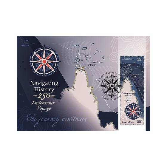 Set of Navigating History: Endeavour Voyage 250 Years maxicards product photo Internal 6 DETAILS