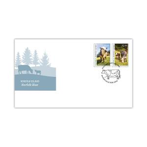 First day Norfolk Island: Norfolk Blue gummed stamps cover product photo