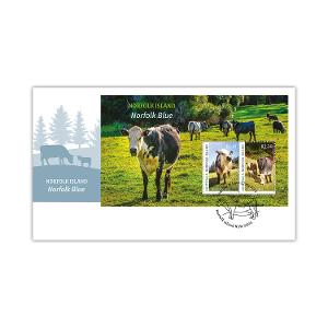 First day Norfolk Island: Norfolk Blue minisheet cover product photo