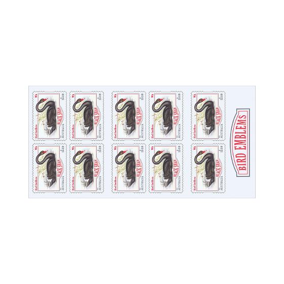 Booklet of 10 x $1.10 Black Swan stamps product photo Internal 1 DETAILS
