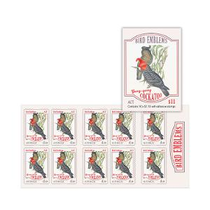 Booklet of 10 x $1.10 Gang-gang Cockatoo stamps product photo