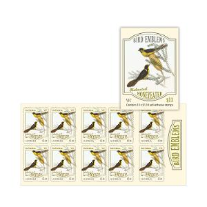Booklet of 10 x $1.10 Helmeted Honeyeater stamps product photo