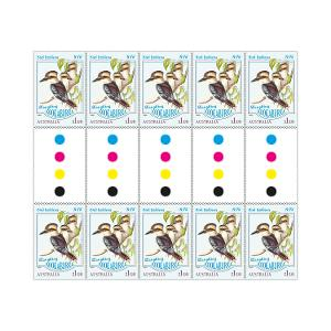 Gutter strip of 10 x $1.10 Laughing Kookaburra stamps product photo
