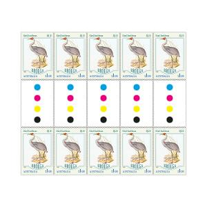 Gutter strip of 10 x $1.10 Brolga stamps product photo