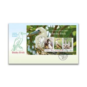 First day Cocos (Keeling) Islands: Booby Birds minisheet cover product photo