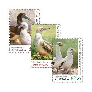 Set of Cocos (Keeling) Islands: Booby Birds gummed stamps product photo