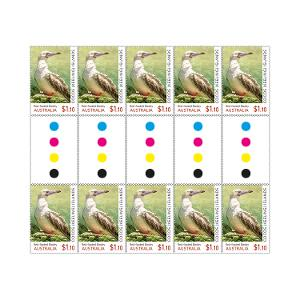 Gutter strip of 10 x $1.10 Red-footed Booby stamps product photo