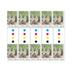 Gutter strip of 10 x $2.20 Masked Booby stamps product photo