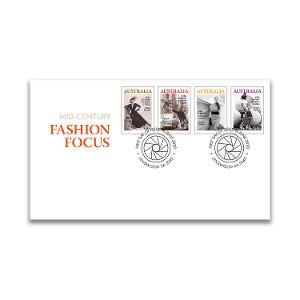 First day Mid-Century Fashion Focus gummed stamps cover product photo
