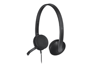 Logitech® H340 USB Plug-and-Play Headset product photo