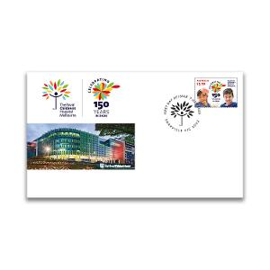 First day 150th Anniversary of The RCH gummed stamp cover product photo
