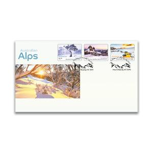 First day Australian Alps self-adhesive stamp cover product photo