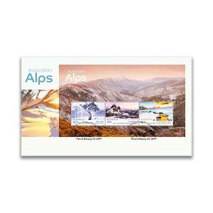 First day Australian Alps minisheet cover product photo