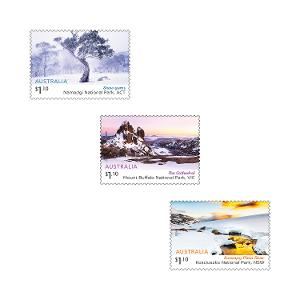Set of Australian Alps gummed stamps product photo