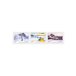 Strip of three self-adhesive Australian Alps stamps product photo