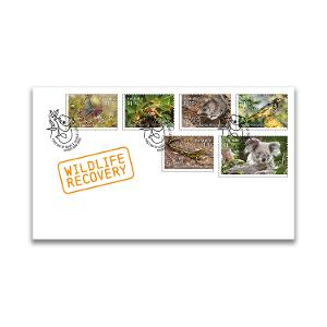 First day Wildlife Recovery gummed stamps cover product photo