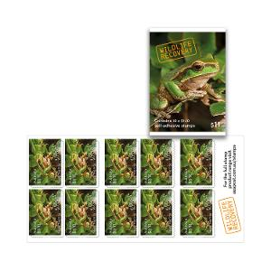 Booklet of 10 x $1.10 Davies' Tree Frog stamps product photo